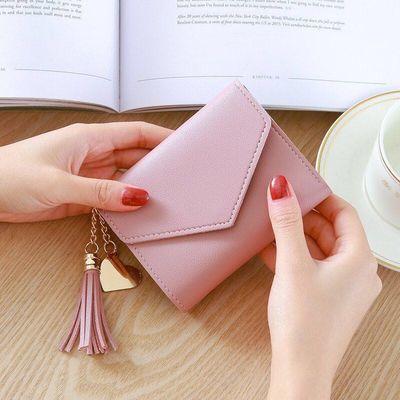 新款钱包女短款女士小钱包迷你学生韩版小手包时尚可爱零钱包卡包