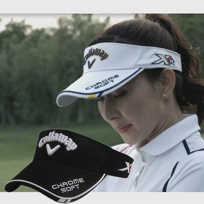 高尔夫球帽女士遮阳防晒空顶帽户外学生夏季运动跑步男士鸭舌帽子