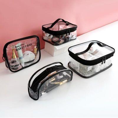 透明化妆包小号便携随身防水洗漱包韩版大容量手拿包化妆品收纳袋