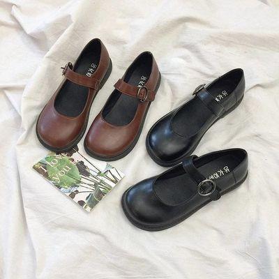 小皮鞋女学生秋季韩版复古可爱软妹小皮鞋英伦风玛丽珍鞋大头鞋女