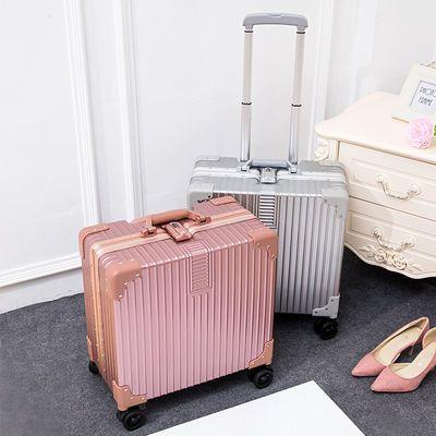 拉杆箱18寸小型迷你行李箱包角登机箱女旅行箱密码皮箱男学生书包