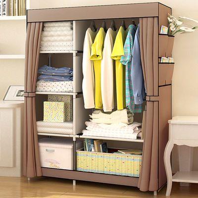 简易衣柜双人钢管布艺成人布衣柜收纳架柜子经济型拼装卧室挂衣柜