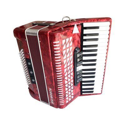 卡尔沃斯手风琴乐器96贝司高端成人儿童初学演奏赠琴包背带红色