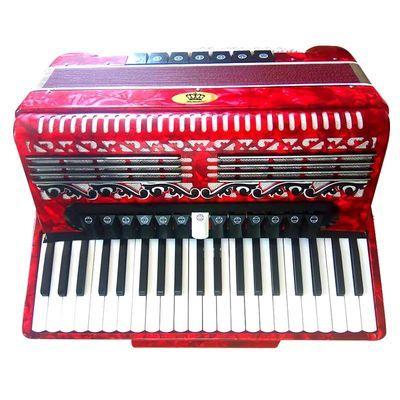 卡尔沃斯 手风琴成人 4排簧  120贝司  专业手风琴 红色