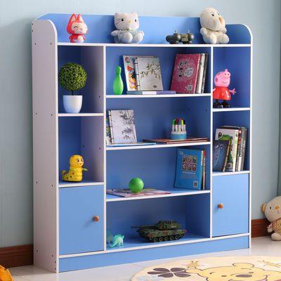 儿童书架绘本架学生书柜简易书架置物架落地书橱组合储物柜带柜门