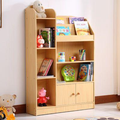 儿童书柜简易儿童书架创意学生小书柜带门简约现代家具整理置物架