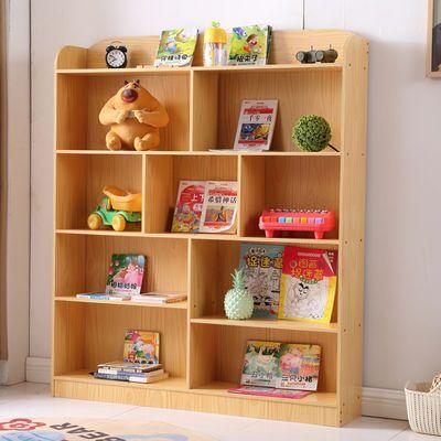 儿童书架简易落地置物架多层学生小书柜家用组合收纳柜玩具整理架