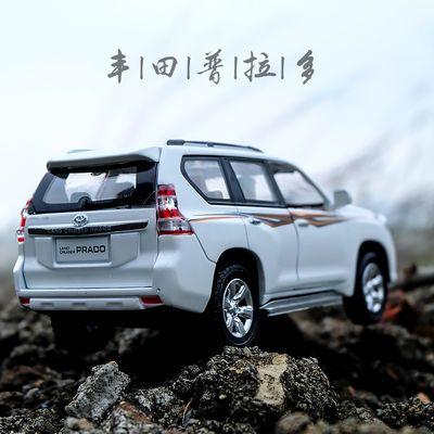 丰田霸道普拉多合金汽车模型仿真车模回力小汽车儿童玩具车合金车