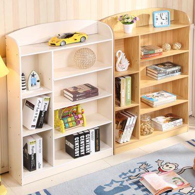 儿童书架书柜儿童书柜书架简易学生小书柜储物柜经济型白色原木色