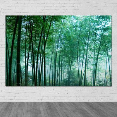 风景画定制竹子竹林海报绿色壁画自然风光图书房客厅装饰墙贴挂画