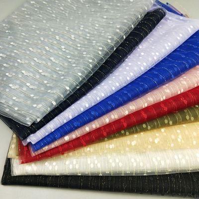 金丝条纹透视软网纱布料 手工DIY 礼服婚纱时装时尚设计创意面料