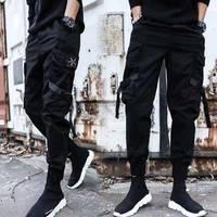冬季工装裤男潮牌韩版潮流学生社会小伙哈伦束脚男士休闲裤子