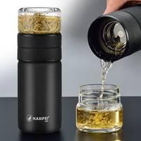 卡西菲茶水分离泡茶杯便携车载保温杯创意随手过滤花茶水杯子