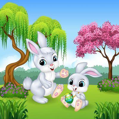钻石画满钻新款贴钻十字绣卡通儿童卧室2019点砖秀小幅可爱小兔子