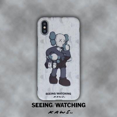 KAWS潮牌苹果X手机壳iPhoneXsMax/6/7/8plus保护壳耐用i6s公仔XR