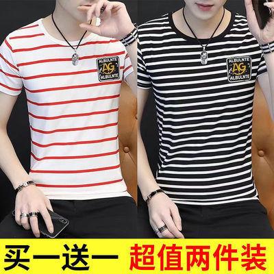 春夏季男士时尚修身t恤男装上衣短袖T恤衫潮流韩版青少年打底汗衫