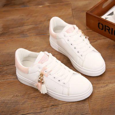 2019春季新款初中生透气小白鞋女小学生平底板鞋低帮运动鞋女单鞋