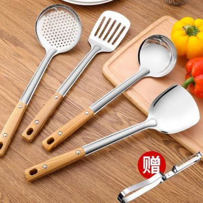 厨房加厚不锈钢勺子套装锅铲汤勺漏勺搅拌勺厨具用品铲子炒菜铲子
