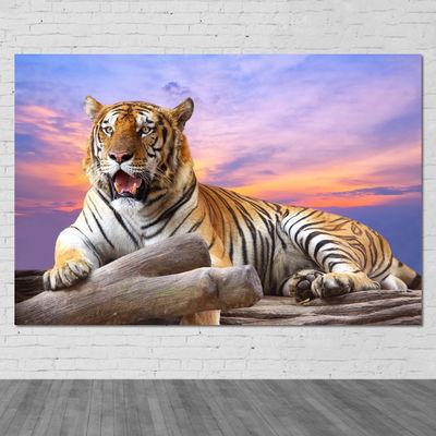 老虎挂画镇宅辟邪海报动物海报风水画客厅装饰墙画老虎海报画定制