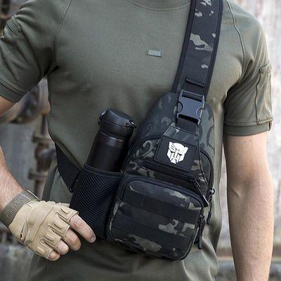 迷彩胸包男士单肩斜挎包户外路亚战术钢珠背包多功能腰包男弹弓包