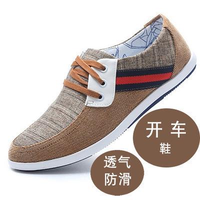 老北京布鞋男鞋春秋冬季透气防臭开车鞋休闲鞋软底防滑中年爸爸鞋