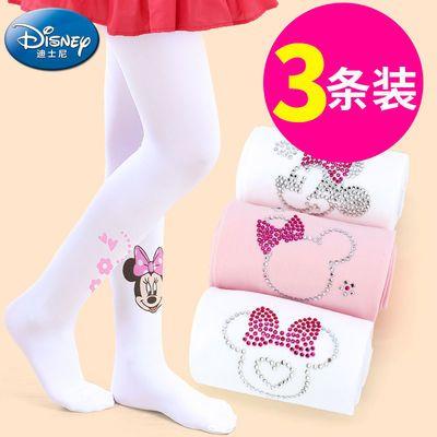 【假一罚十】迪士尼儿童连裤袜女童夏季薄款白色打底裤长筒舞蹈袜