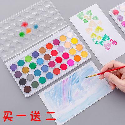 【买一送二】初学者绘画水粉颜料儿童水粉固体粉饼水彩颜料套餐