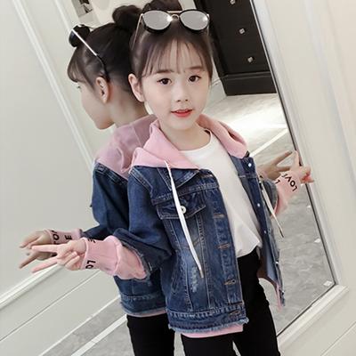 女童牛仔外套春秋2020新款韩版儿童洋气短款夹克女孩秋装学生上衣
