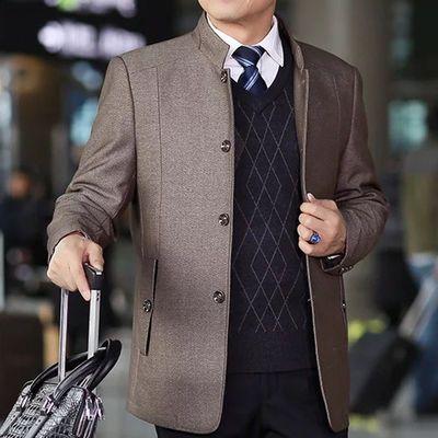 2020新款中年男士外套春季夹克男中老年男装秋季爸爸装春秋款上衣