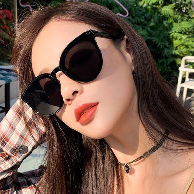 太阳镜女2019新款潮明星网红款眼镜偏光墨镜女韩版个性复古原宿风