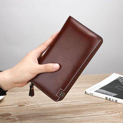 新款男士真皮钱包手拿包休闲手抓包大容量手机包多卡位拉链钱夹包