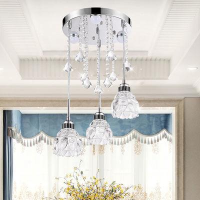 LED餐厅吊灯温馨浪漫餐桌灯卧室灯大气水晶吧台吊灯简约现代 灯具