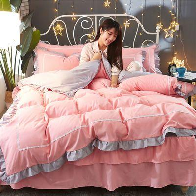 公主风床裙四件套床上用品1.5/1.8/2.0m床单被套亲肤床罩三4件套