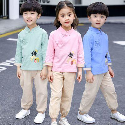 儿童汉服唐装男童书童套装女童春秋中国风宝宝复古装小孩民族服装