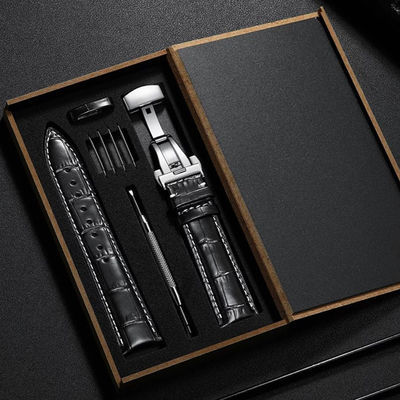 【赠礼包】男女真皮手表带男女皮表带表链通用手表配件蝴蝶扣表带