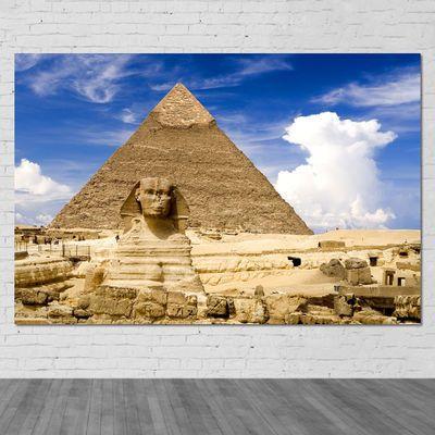 埃及金字塔狮身人面像自然风景世界名胜遗迹古建筑海报装饰墙贴画