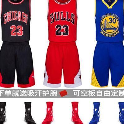 库里篮球服套装儿童成人表演球服男士训练服背心球衣比赛蓝球服