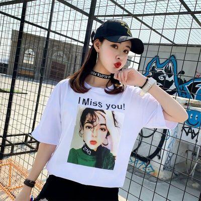 【好品质】2019韩版夏装半袖t恤女宽松大码上衣女短袖t恤女学生潮