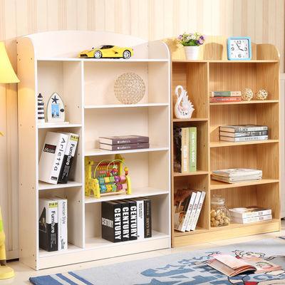 创意儿童书架儿童书柜书架置物架简易书柜学生书架书橱白色原木色
