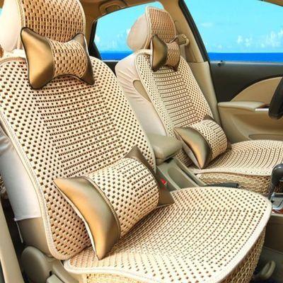 夏季冰丝汽车坐垫四季通用编织透气小车垫夏天专用全包汽车座套