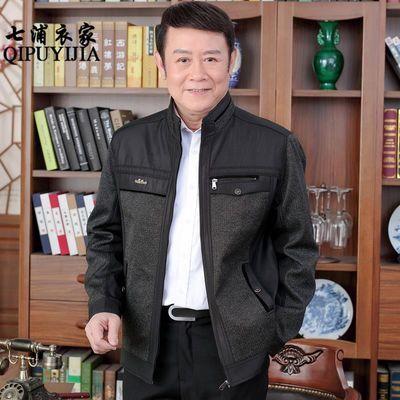 2020秋冬季新款中年男士外套薄款男装春装夹克中老年40岁50爸爸装