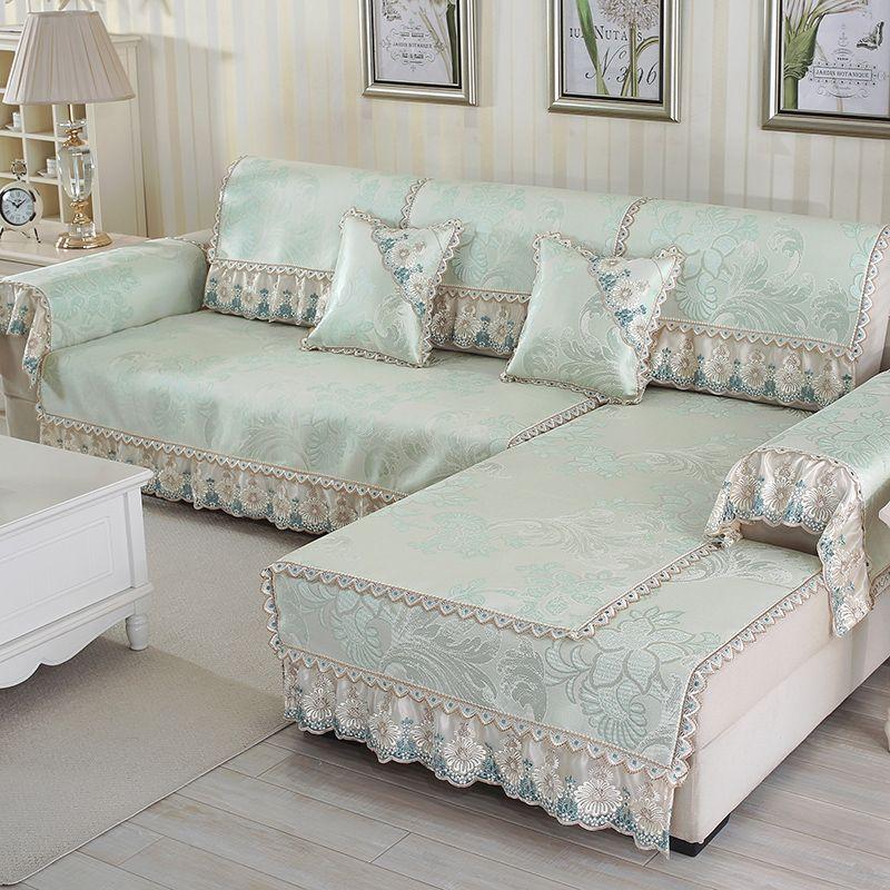 Buy European Style Mat Sofa Cushion Summer Ice Silk Slip Proof