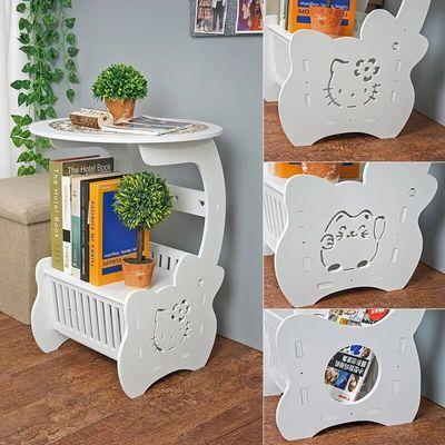 床头柜现代简约北欧式床头柜卧室小圆桌客厅茶几沙发边几特价包邮