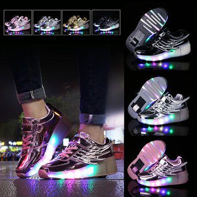 暴走鞋单轮儿童滑轮鞋男童女童带轮的鞋小学生变形鞋青少年爆走鞋