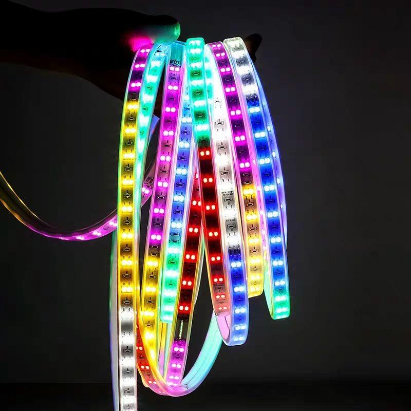 灯带led七彩变色户外防水彩灯带广告牌跑马流水闪光灯条彩色KTV的细节图片3