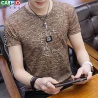 【卡帝乐鳄鱼】夏季新款短袖t恤男潮流韩版半袖打底衫男装上衣服