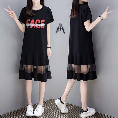 休闲连衣裙2020夏季新款女装韩版气质时尚修身中长款宽松T恤裙子