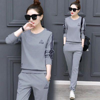 2019春季韩版新款大码装休闲服两件套学生装显瘦运动套装女