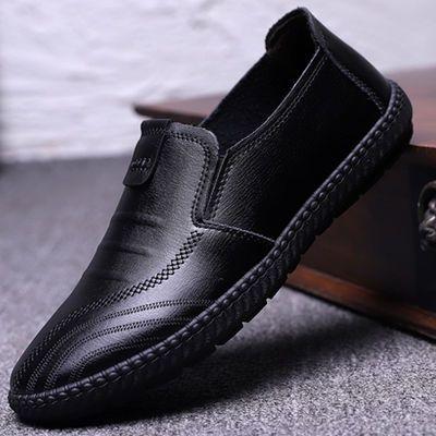 【亏本清仓】男士柔软舒适皮面豆豆鞋男士休闲皮鞋上班鞋工作鞋