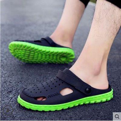 凉拖鞋男2019夏季新款情侣洞洞鞋男士外穿凉鞋防滑软底户外沙滩鞋